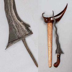 Old Keris 9 Luk Sempana Mrambut Pajang Magical Power, Swords, Knives, Ninja, Samurai, Supernatural, Weapons, Dan, Spirituality