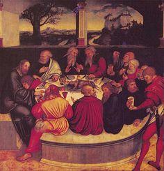 Тайная вечеря, 1547 - Лукас Кранах Старший