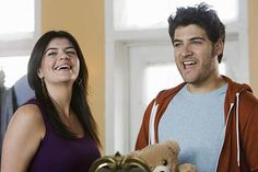"""Casey Wilson and Adam Pally (Penny and Max on """"Happy Endings"""")."""