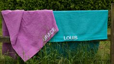 Vibrancy towels with your name on them