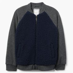 7b12da5e41f Take a look at this Gym Navy Sherpa Bomber Jacket - Toddler   Boys today!