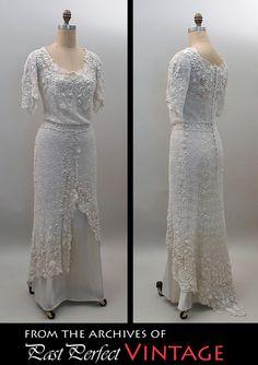 Irish Crochet overdress, ca.1910