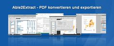 Im Test: Able2Extract PDF Converter 9 - Able2Extract PDF konvertieren und exportieren #PDF #konverter