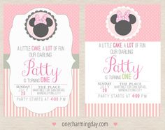 Free Minnie Mouse Party Printables Minnie Mouse birthday invitation