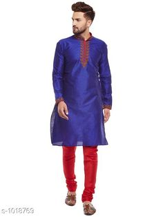 Kurta Sets Ethnic Fancy Jacquard Men's Kurta Set Fabric: Kurta- Jacquard Pyjama- Jacquard Sleeves: Kurta- Full Sleeves Are Included Size: Kurta- S M L XL XXL (Refer Size Chart For Details) Pyjama- S- 28 in M- 30 in L- 32 in XL- 34 in XXL- 36 in        Length: Kurta- Refer Size Chart Pyjama - Up To 50 in Type: Stitched Description: It Has 1 Piece Of Men's Kurta and 1 Piece Of Men's  Pyjama Pattern: Solid Country of Origin: India Sizes Available: S, M, L, XL, XXL   Catalog Rating: ★4.2 (388)  Catalog Name: Men's Ethnic Fancy Jacquard Kurta Sets Vol 5 CatalogID_122818 C66-SC1201 Code: 157-1018769-5202