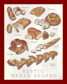 Rustic Bread Shapes