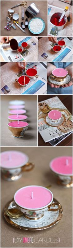 It's DIY Time {Ombre Candles} | DIY Fun Tips
