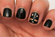 Black Cat nails by Beauty by Arielle
