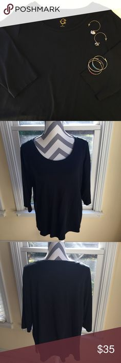 🐾 C Wonder Black Prima Cotton Tee. 🖤 SZ XL 🐾 This New Without Tags C Wonder Black Prima Cotton Tee is woman's size Extra Large. Sooooo soft and made of the heaviest cotton ever!  Boxy oversized fit. Please look at the C Wonder website for your size and measurements. Reasonable offers will always be considered. A reasonable offer chart is included in the listing. No trades or low ball offers. Thanks! C Wonder Tops Tees - Long Sleeve