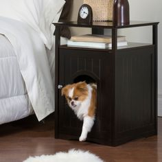nightstand and pet bed. I'd rather have my future puppy on the bed with me but I think Elijah would prefer something like this.