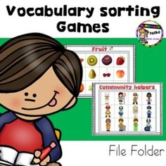 Vocabulary and  Matching games  Preschool/Autism This File folder pack include real pictures for your student to practice matching picture to picture or picture to word.  This pack can be used as File folder activities for independent work or practice  vocabulary  with your student  by reinforcing the word while you play.