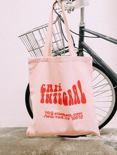 not my pic ☆︎ just edited by me! Pink Tote Bags, Printed Tote Bags, Canvas Tote Bags, Reusable Tote Bags, Canvas Totes, Jute, Custom Tote Bags, Branding, Cotton Bag