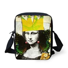 Gone With The Wind Mona Lisa Casual Cross Body Bags 22 Kinds Style Freak 3D Printing Mona Lisa Messenger Bags For Lady and Girl