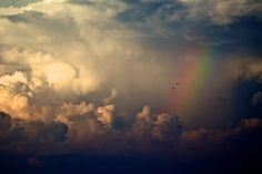 Storm Clouds And Rainbow wallpapers