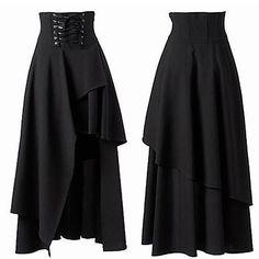 BA_ WOMEN'S SUMMER GOTHIC NEWEST BANDAGE BLACK HIGH WAIST DRESS LONG SKIRT