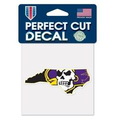 Perfect Cut Decal NCAA East Carolina Pirates- 4x1.5 #EastCarolinaPirates Car Decals, Bumper Stickers, Transfer Tape, Accessories Shop, Die Cutting, Pirates, Magnets, Exterior, Logos
