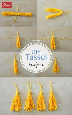 A tutorial to make a DIY tassel to make necklaces, earrings, embellish clothing or scarves. Graduation Cards Handmade, Graduation Crafts, Graduation Ornament, Kindergarten Graduation, Grad Gifts, Handmade Cards, Graduation Party Centerpieces, Graduation Party Themes, Grad Parties
