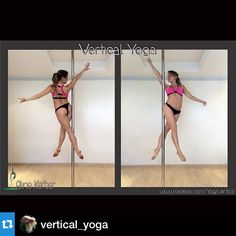 Who has tried this move? It looks so cool!! Repost Aline Kerber @vertical_yoga ・・・