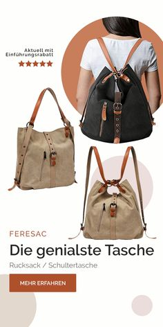 Just Einfach genial! Functionality combined with style. Leather Handbags, Leather Bag, Sewing Leather, Shopper, Fashion Backpack, Tote Backpack, Diy Bags, Louis Vuitton, Backpacks