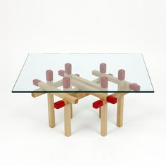 How cool! Matchstick table!