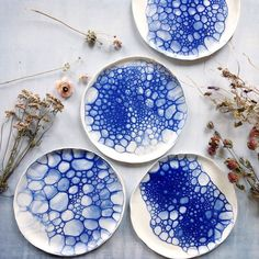 """5,870 Likes, 81 Comments - Ria: handmade community (@craftsposure) on Instagram: """"I can eat nothing off these plates and still feel full! Totally inspired by the patterns on these…"""""""