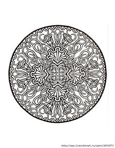 Dover Coloring Book - Mystical Mandala Coloring Book_0020 (540x700, 266Kb)