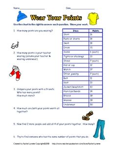 Here are three free ready-to-use math worksheets to use with your students. These go beyond simple computation and require students to use their hi...