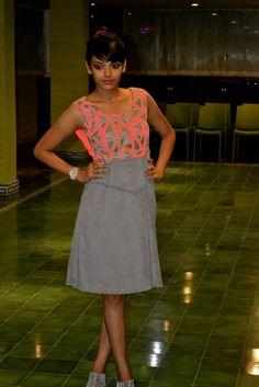 Gorgeous peach & gray dress from Studio 149 by Swathi