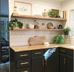 Kitchen Living Rooms What I'm Loving for My Kitchen - Modern Boho Eclectic Kitchen Picks! - What I'm Loving for My Kitchen - Modern Boho Eclectic Kitchen Picks! New Kitchen Cabinets, Kitchen Redo, Kitchen Tiles, Kitchen Colors, Living Room Kitchen, Home Decor Kitchen, Kitchen Remodel, Kitchen Design, Diy Cupboards