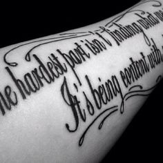 Quote tattoo // font and accents