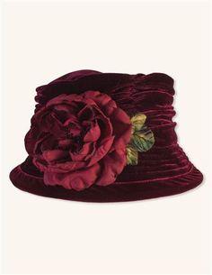 Crushable Velvet Merlot Hat
