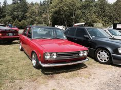 Datsun 510 at old school reunion had a rag top looked awesome