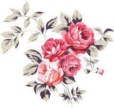 vintage pink rose tattoo
