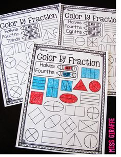 Fractions in first grade are so much more fun when coloring is involved! Coloring by fourths, halves, thirds, and more fun fractions activities on this post! Definitely save this! Teaching First Grade, First Grade Classroom, Math Classroom, Kindergarten Math, Classroom Decor, Teaching Fractions, Math Fractions, Teaching Math, Fractions Worksheets