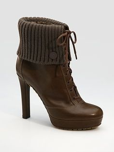 love this gucci lace up ankle boots