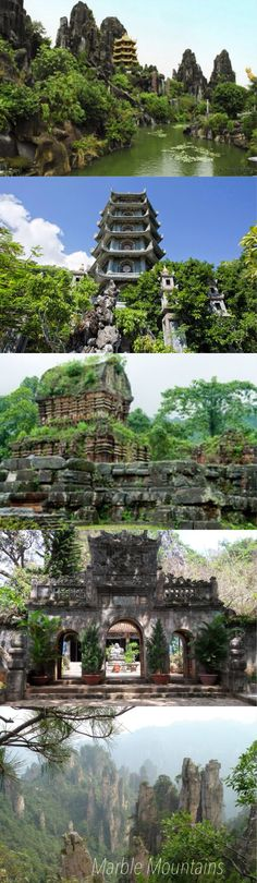 Marble Mountains or Ngũ Hành Sơn (Five Elements Mountains), Vietnam This is outside Hoi An near DaNang, Vietnam.