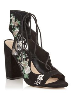 a0cb6fba7bf75e Embroidered lace up sandal by Miss Selfridge
