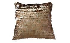 Layered Copper Sequin Cushion