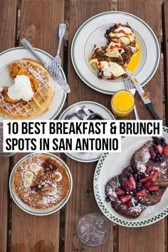 A local's guide to the best breakfast & brunch in San Antonio with diverse recommendations from french toast to chilaquiles to pancakes. Breakfast And Brunch, Best Breakfast, San Antonio Things To Do, San Antonio Restaurants, San Antonio Food, San Antonio Vacation, Best Brunch Places, San Antonio Riverwalk, Breakfast Restaurants