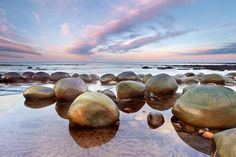 Bowling Ball beach north of Gualala, pretty cool round boulders from the cliffs to the seashore