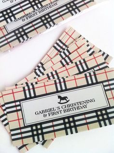 Burberry inspired invitation