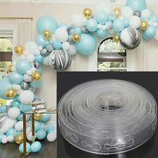 5M Balloon Holder Chain Tape Arch Connect Strip Wedding Party DIY Ballon Clip Ne