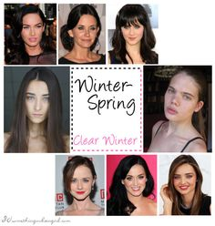 Clear Winter seasonal color celebrities