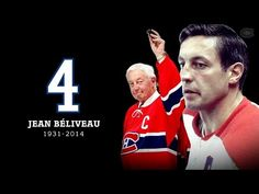 The Montreal Canadiens and the Bell Centre faithful pay tribute to the late Jean Beliveau with a moment of silence and a standing ovation. Maurice Richard, Montreal Canadiens, Hockey Teams, Hockey Players, I Am Canadian, Latest Jeans, Popular People, National Hockey League, New Pictures