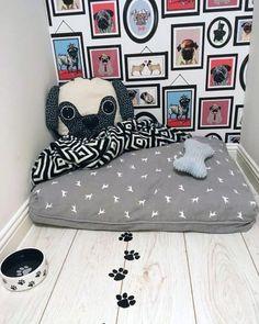 Dog Bedroom, Room Ideas Bedroom, Bedroom Furniture, Animal Room, Dog Room Decor, Wall Decor, Dog Kennel Designs, Puppy Room, Dog Spaces