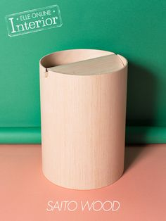 Saito wood dustbin