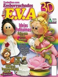 Revistas de manualidades gratis: como hacer hadas fofuchas Foam Crafts, Crafts To Make, Arts And Crafts, Paper Crafts, Cross Stitch Books, All Craft, Flower Crafts, Christmas Crafts, Projects To Try