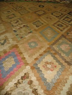 I SEW QUILTS: Hexagons from the Cheltenham Museum collection