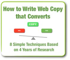 How to Write Web Copy that Converts – 8 Simple Techniques Based on 4 Years of Research - ContentVerve.com