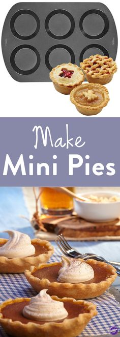 Bake personalized mini pies with Wilton Mini Pie Pan! This 6-cavity mini pie pan is perfect for individual serving of pies and tarts. It's non-stick for easy release.